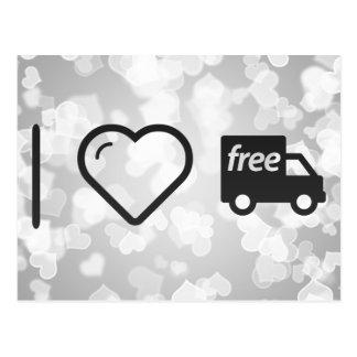 I Heart Free Deliveries Postcard