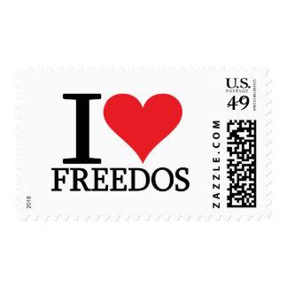 I Heart FreeDos Stamps