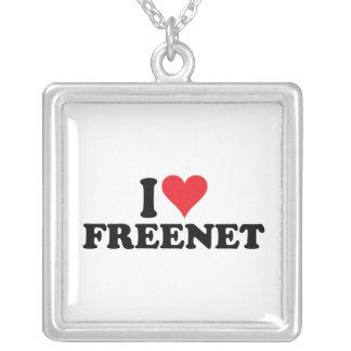 I Heart Freenet 1 Square Pendant Necklace