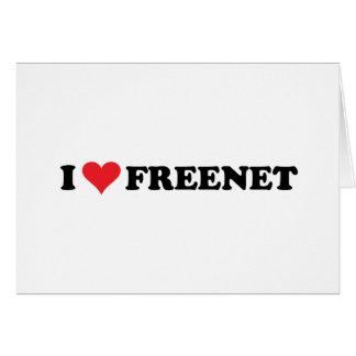 I Heart Freenet 2 Greeting Card