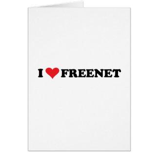 I Heart Freenet 2 Stationery Note Card