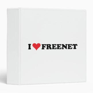 I Heart Freenet 2 Vinyl Binders