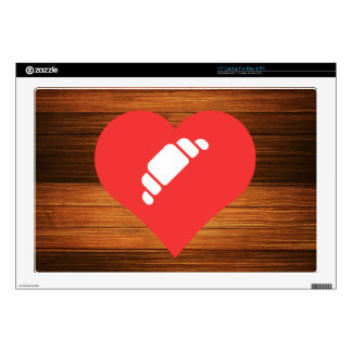 "I Heart French Pastries Icon 17"" Laptop Skin"