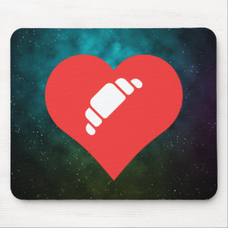 I Heart French Pastries Icon Mouse Pad