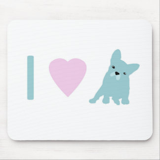 I Heart Frenchy Mouse Pad