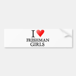 I heart freshman girls bumper sticker