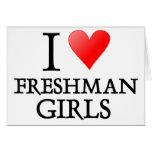 I heart freshman girls greeting card