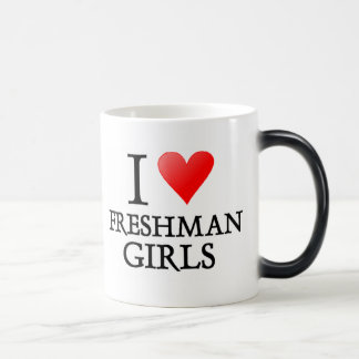I heart freshman girls magic mug