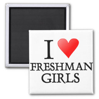 I heart freshman girls magnet