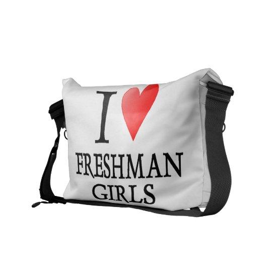 I heart Freshman Girls Messenger Bag