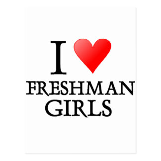 I heart freshman girls postcard