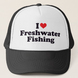 I Heart Freshwater Fishing Trucker Hat