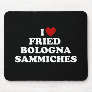 I Heart Fried Bologna Sammiches Mouse Pad