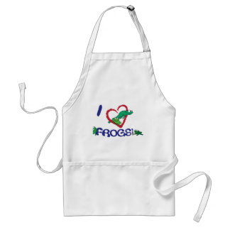 "I ""heart"" frogs adult apron"
