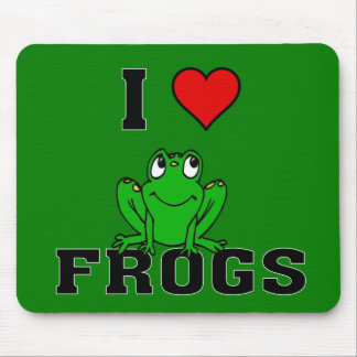 I Heart Frogs Mouse Pad