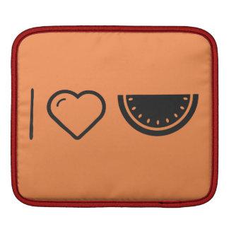 I Heart Fruit Melons iPad Sleeves