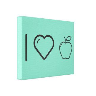 I Heart Fruits Apples Canvas Print