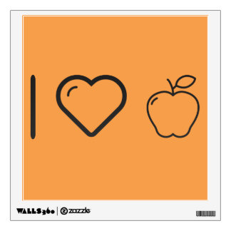 I Heart Fruits Apples Room Graphic