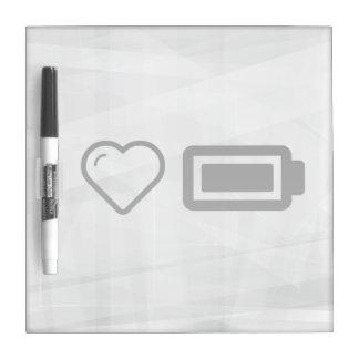 I Heart Full Batteries Dry Erase Whiteboards