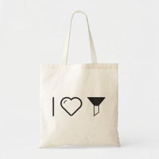 I Heart Full Funnels Budget Tote Bag