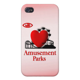 I Heart Fun Parks i /  iPhone 4 Cover