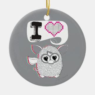 I Heart Furby Ceramic Ornament