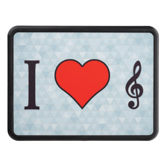 I Heart G Clef Tow Hitch Cover