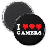I Heart Gamers Fridge Magnets