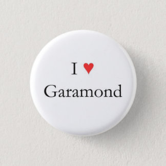 I heart Garamond Pinback Button