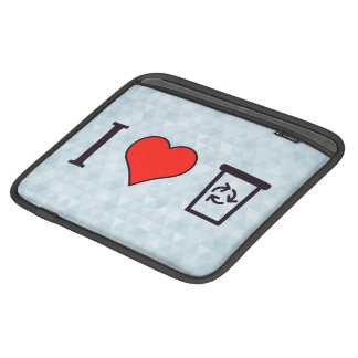 I Heart Garbage Cans Sleeve For iPads