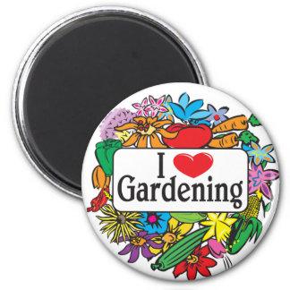 I Heart Gardening 2 Inch Round Magnet