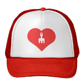 I Heart Gardening Tools Icon Trucker Hat