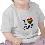 I heart Gay Rainbow Heart T Shirts