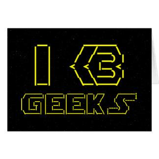 I Heart Geeks ASCII ART Card