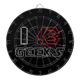 I Heart Geeks ASCII ART Dartboard