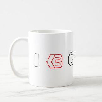 I Heart Geeks ASCII ART Coffee Mugs