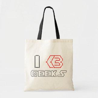 I Heart Geeks ASCII ART Tote Bag