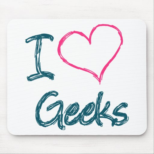 I Heart Geeks Mouse Pads