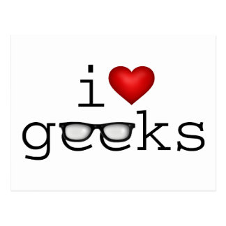 I Heart Geeks Postcard