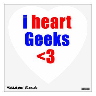 I heart geeks room decal