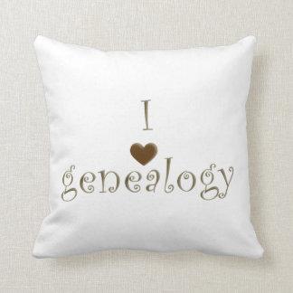 """I """"Heart"""" Genealogy, Customizable Throw Pillow"""