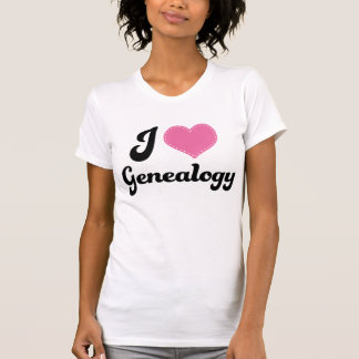 I Heart Genealogy T-Shirt