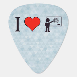 I Heart Geography Teacher Guitar Pick