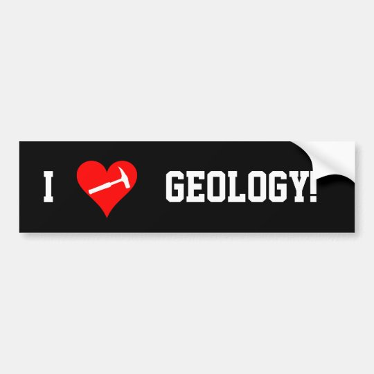 I heart geology bumper sticker