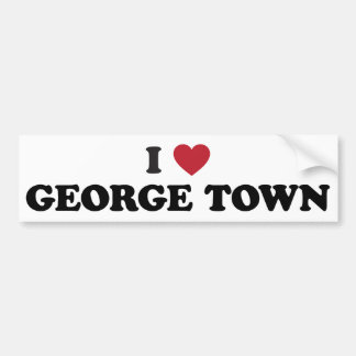 I Heart George Town Penang Malaysia Bumper Sticker