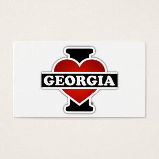 I Heart Georgia Business Card