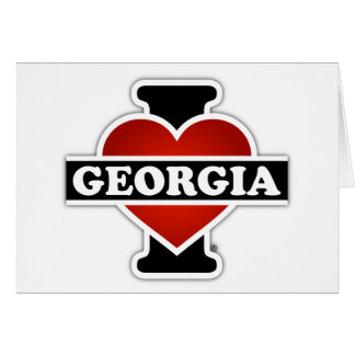 I Heart Georgia Card