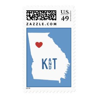 I Heart Georgia - Customizable City Stamp
