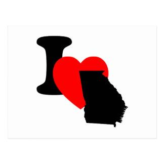 I Heart Georgia Postcard