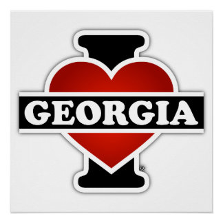 I Heart Georgia Poster
